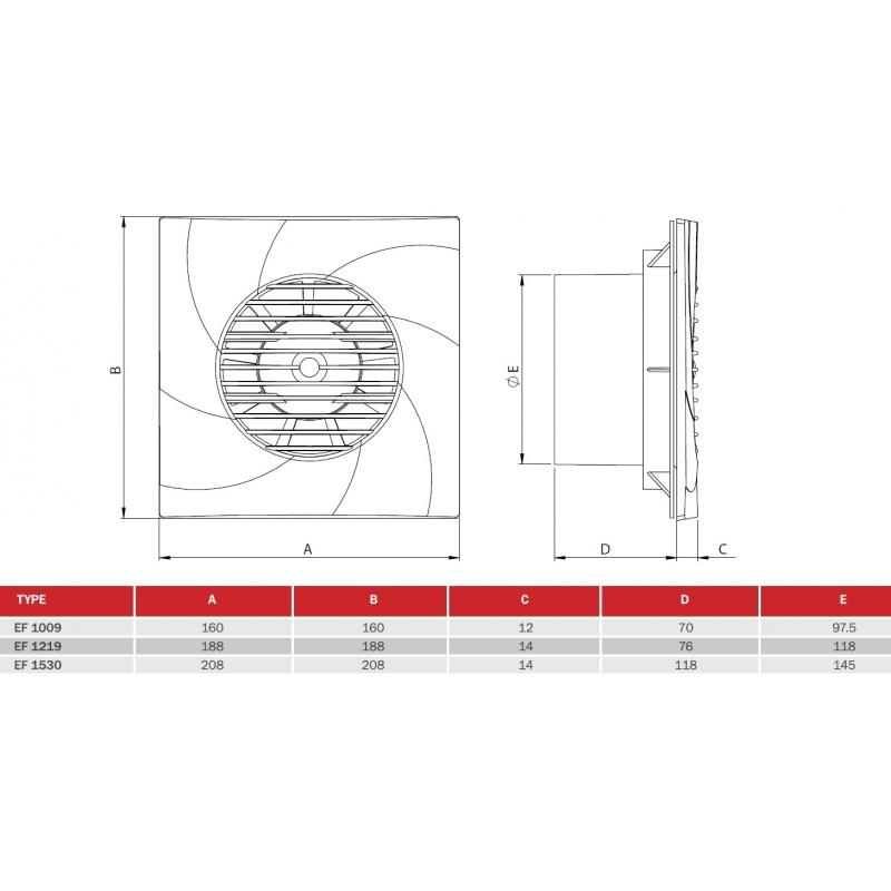 Вентилатор за баня BVN EF 1009 ChernevClima